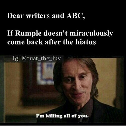 No one says it better than Rumple!