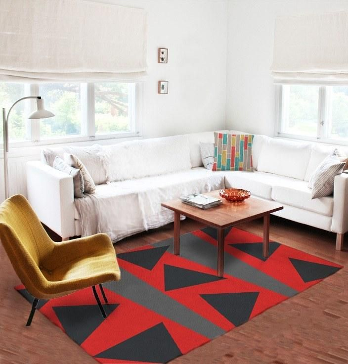 Red and black rugs - Modern Rug - Area Rugs - Affordable rugs
