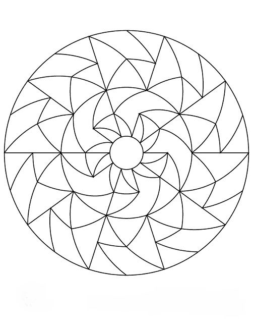 mandala coloring pages simple