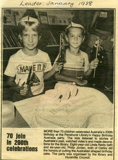 Australia's 200th birthday party at Penshurst Branch Library 1988