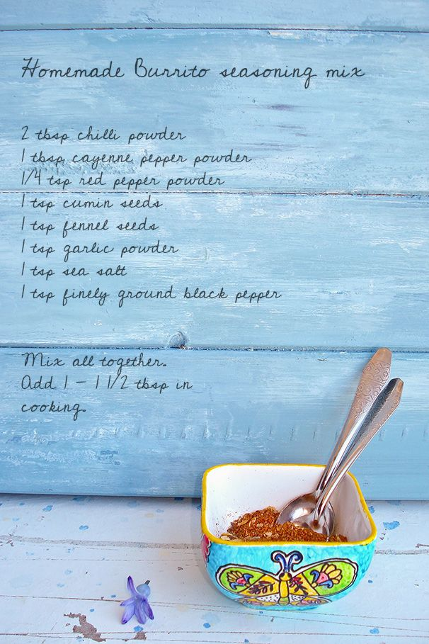 Homemade Burrito seasoning mix - it's so easy!