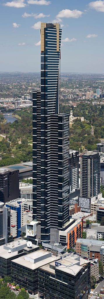 Eureka Tower, Melbourne, Victoria, Australia (Architect: Fender Katsalidis - Status: Completed 2006) GPS: -37.821569, 144.964490 - https://en.wikipedia.org/wiki/Eureka_Tower