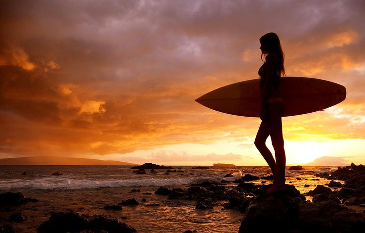 Surfer Girl - Makena Sunset II by Quincy Dein
