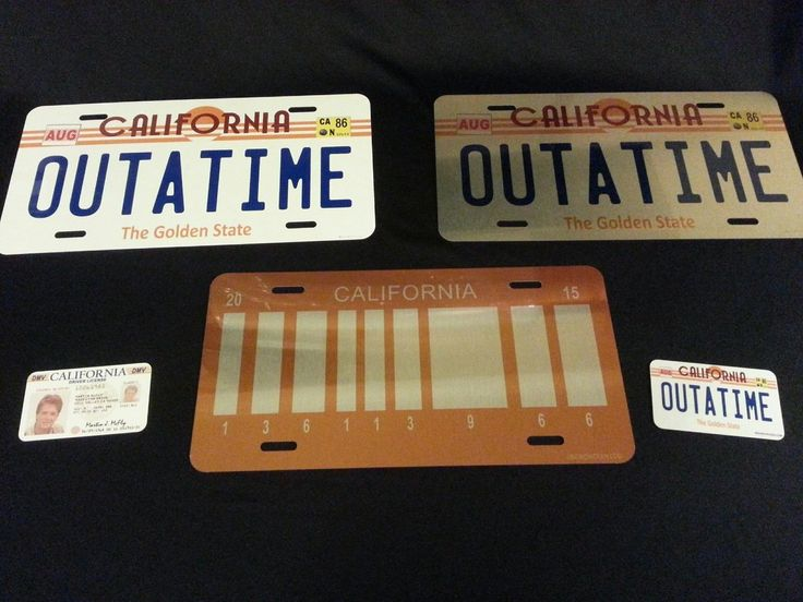 nice OUTATIME, BACK TO THE FUTURE - QUICK SILVER COLLECTORS SET / LICENSE PLATE   Check more at http://harmonisproduction.com/outatime-back-to-the-future-quick-silver-collectors-set-license-plate/