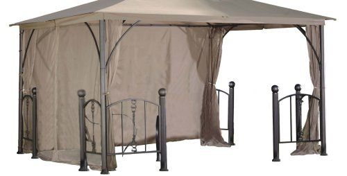 DC America GOPR58-BB-RS Replacement Privacy and Wind Shade-Rome Post Gazebo, 12-Foot by 12-Foot, Polyester by DC America. $110.99. Attractive outdoor accessories. Measures 12 by 12-feets. Beige with beige trim. Replacement privacy and wind shade-rome post gazebo; polyester. Polyester 180 grams/square meter. DC America #GOPR58-BB, 12-feet by 12-feet Replacement Privicy and Wind Shade-Rome Post Gazebo, Polyester. Continuing its tradition of fine quality products, D.C. America has ...