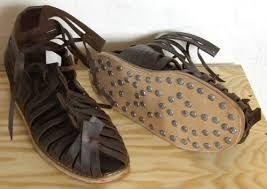 Caligulae sandalias tradicionales empleadas por el soldado romano