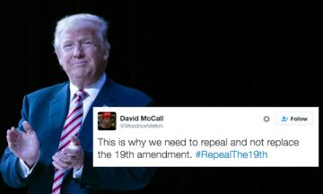Trump Supporters Tweet #RepealThe19th After Poll Shows He'd Win If Only Men Voted | Huffington Post
