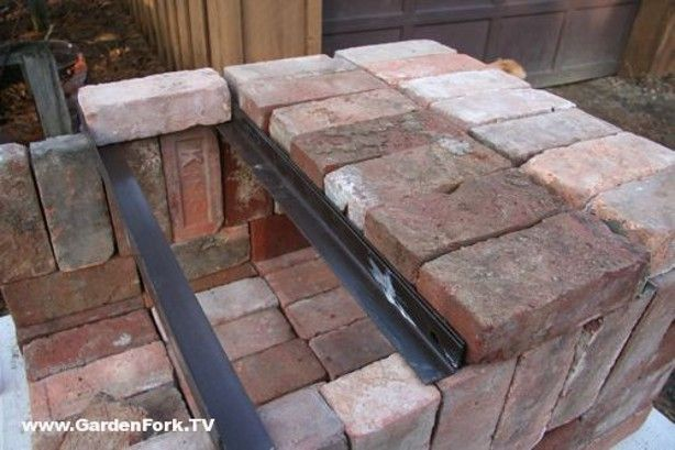 Brick pizza oven made from scrap material. You can even take it apart and reconstruct it somewhere else.
