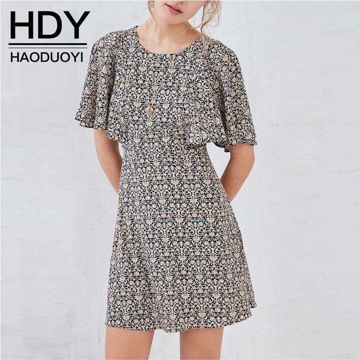 Aliexpress.com: Compre HDY Haoduoyi Das Mulheres Verão Retro Cintura Alta Magro…