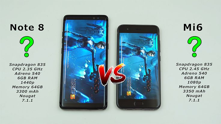 Samsung Note 8 vs Xiaomi Mi6 Performance Test! Which device is the fastest?