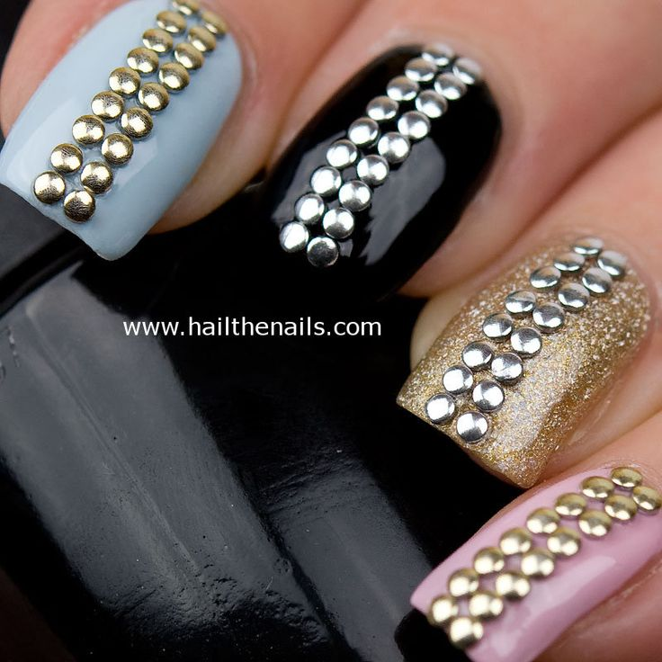 14 best Nail Studs & Crystals images on Pinterest | Cute nails ...