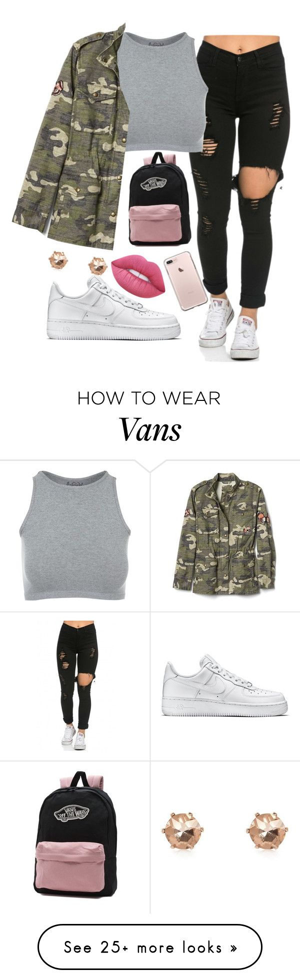 """""""OOTD"""" by iamrosyrosalie on Polyvore featuring NIKE, Free People, Gap, Vans, Lime Crime and River Island"""