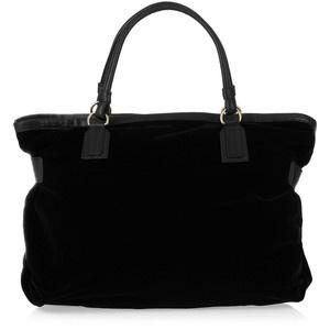 Chloé Loki leather-trimmed velvet weekend bag