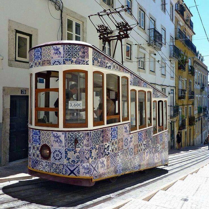 perfectthewayyouarerightnow:  Beautiful tiled trolley - Portugal