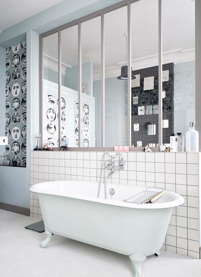 salle de bain avec verrire - Verriere Salle De Bain Lapeyre