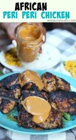 Spicy African grilled chicken, this Peri Peri Chicken is easy to make and PACKED with delicious spicy and tangy flavors!