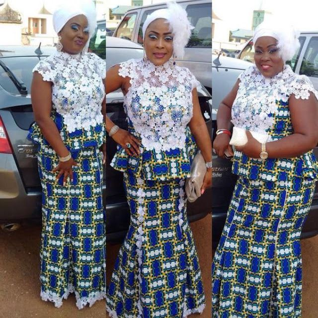 Ankara And Lace Combinations Skirt Blouse Styles Dezango