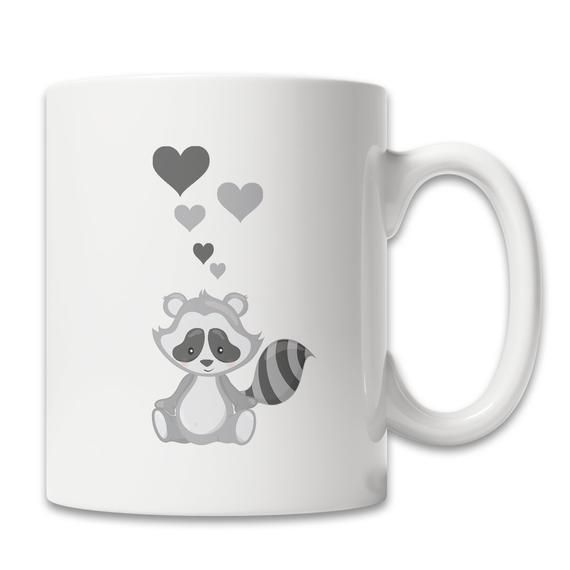 Cute Raccoon Coffee Mug Love Raccoons Mug Raccoon Lover Mug Cute Raccoon Gift