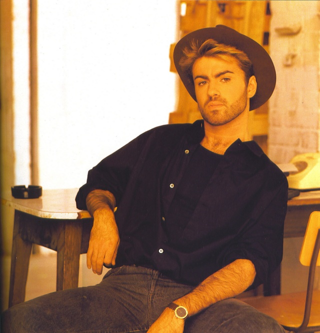 George Michael---i had this poster on my wall as a teen!!