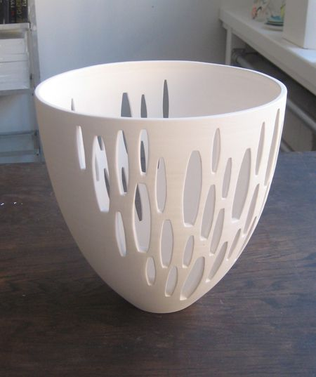 #MODERN_CERAMIC_BOWL #Jill_Rosenwald is known for her lively patterned pottery. TRIVIA: Her work was featured on Sex and the City!.