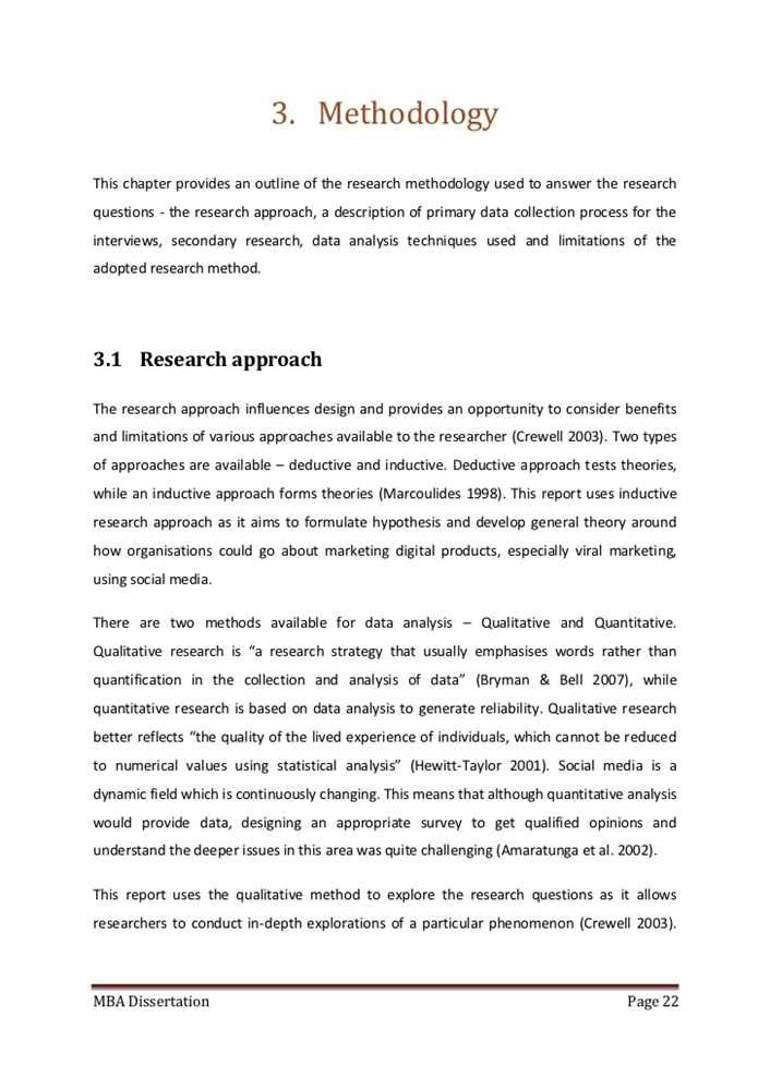 dissertation methodology example pdf