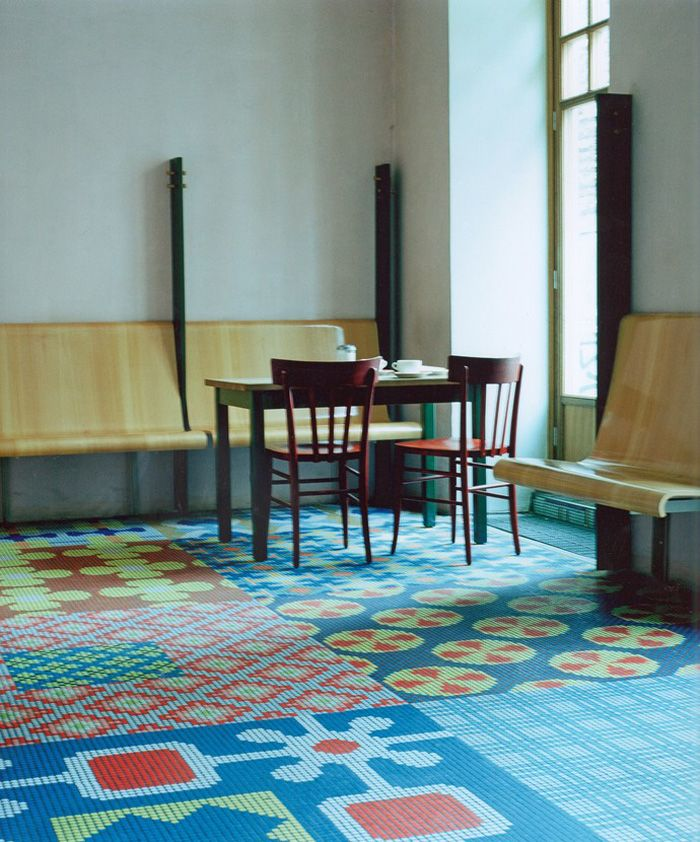 Artist, designer and set designer, Cilla Ramnek has worked on many commissions from stunning floor coverings made of glass mosaics to creating artworks for