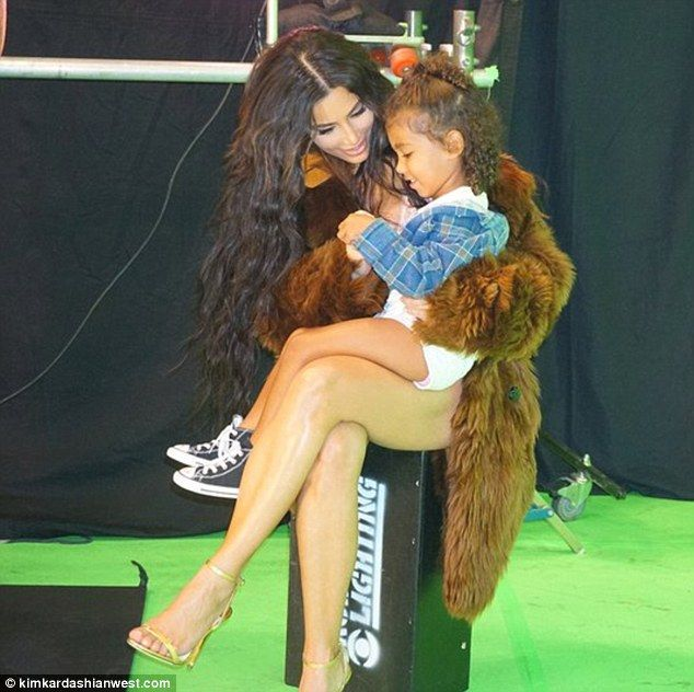 Her biggest fan: Kim Kardashian has released a behind-the-scenes look at her just out Love...