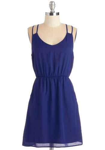 Make Way for Radiance Dress. Clear the sidewalks - youre ready to make the world your runway in this cobalt-blue dress! #gold #prom #modcloth