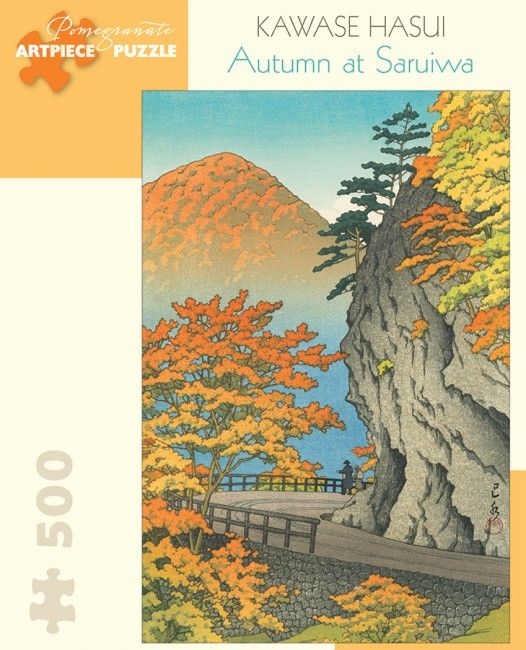 Photo Pomegranate AA944 - Hasui: Autumn in Saruiwa - 500 pieces jigsaw puzzle 1