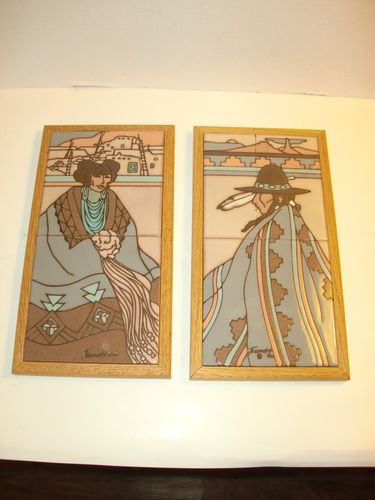 Cleo teissedre designs 1986 art ceramic tile decor for Native american tile designs