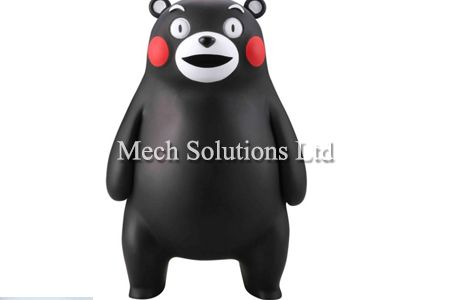 3D Printing Kumamon using PLA material and FDM technology, professional 3D drawing design and post-processing, spray-painting, coloring and polishing, in GTA Toronto, Ontario, Canada