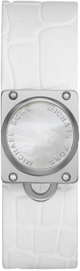Michael Kors Access Women's Reade White Croc-Embossed Silicone Strap Activity Tracker 26mm MKA101009