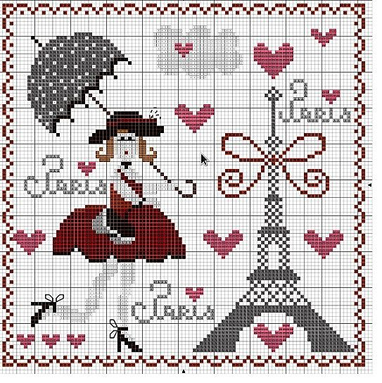 Paris x-stitch​