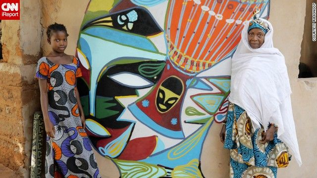 Brazilian Rimon dos Santos Guimaraes captured this image of a glorious mural painted on a school in Kubuneh, Gambia