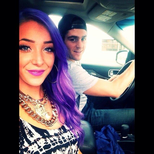 Jenna Marbles had her hair done purple with a Pravana hair ...