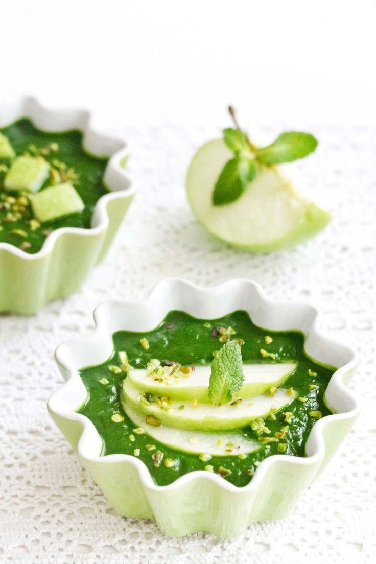 vellutata spinaci e mela verde