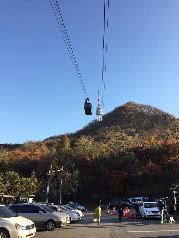 On my way to Namsan Tower.