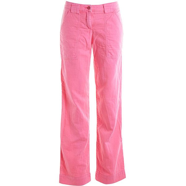 Pre-owned Women's J.Crew Pink Pants (315 ARS) ❤ liked on Polyvore featuring pants, pink, pink pants, j crew trousers, j crew pants and pink trousers