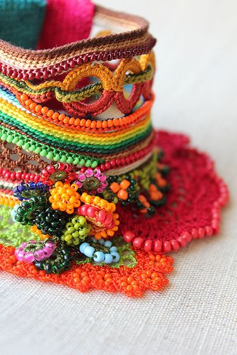 Freeform Crochet Cuff by irregularexpressions