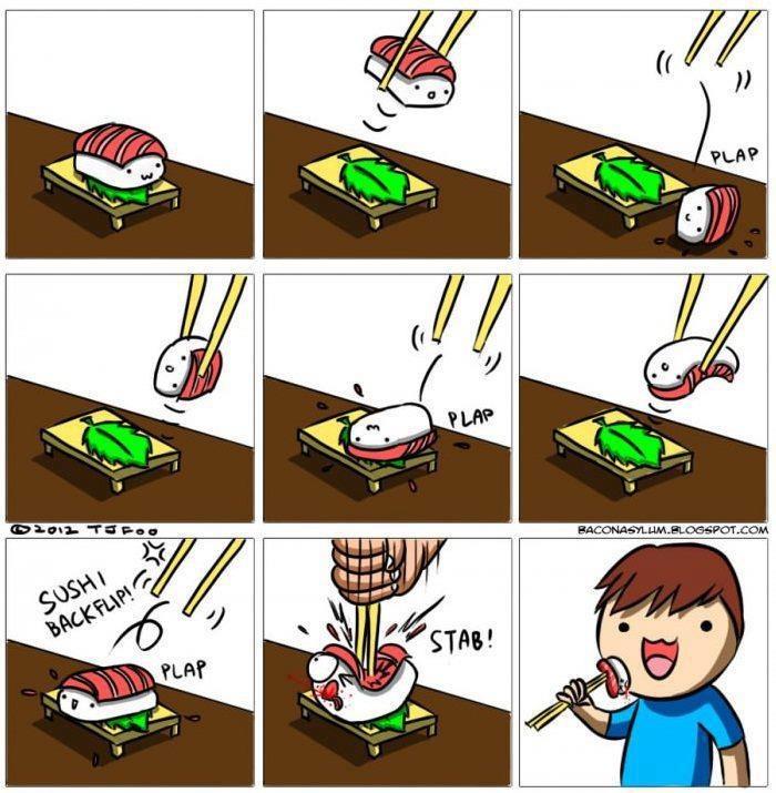 Прикольные картинки на тему суши