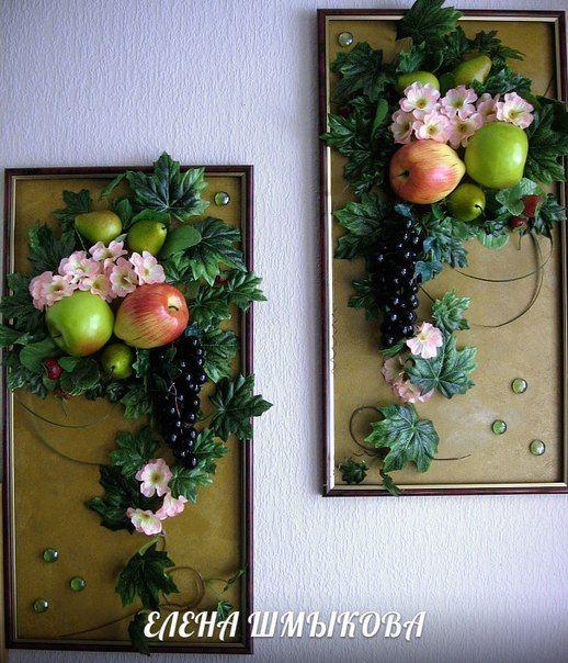 панно из искусственных фруктов | 9 фотографий