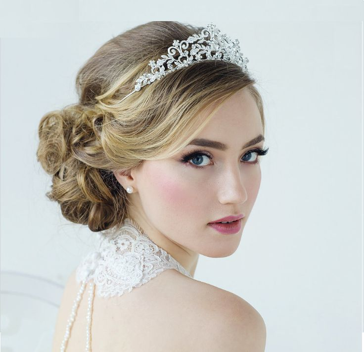 beautiful silver plated crystal rochelle enchantment wedding tiara sale affordable elegance bridal