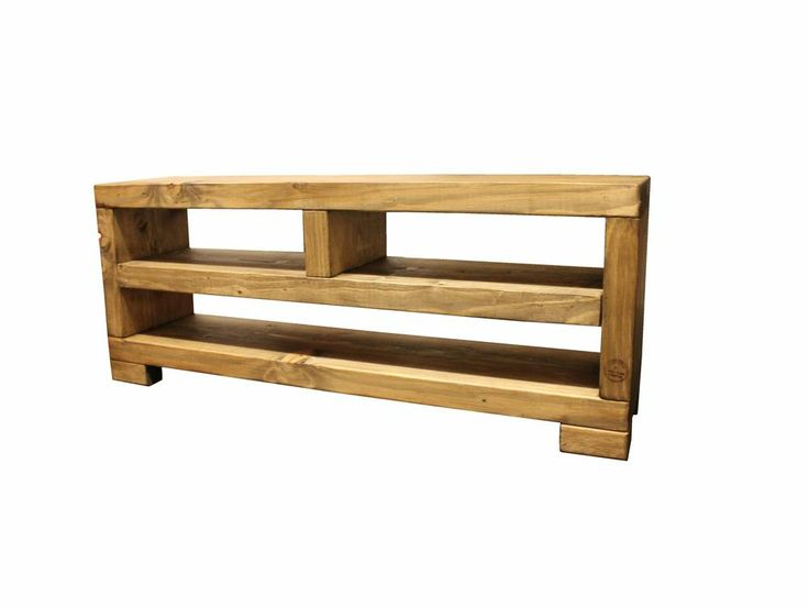 Details about Solid Beam Sound bar LCD Widescreen Plasma TV Stand Unit  Rustic Furniture