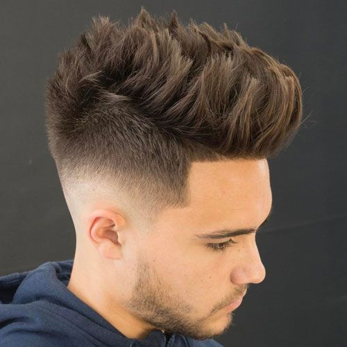 Textured Spiky Hair + Medium Fade