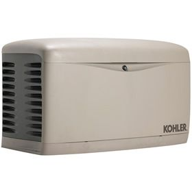 kohler whole house generator ... for washington house ... even notifies homeowner of outage ... propane or natural gas powered
