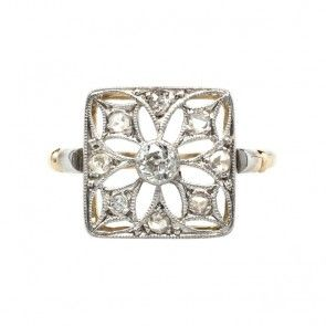 Galewood vintage Edwardian diamond ring from Trumpet & Horn