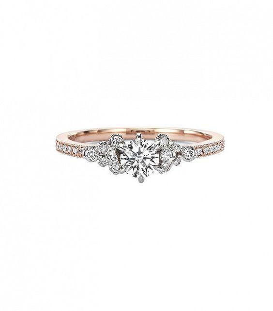 Kataoka Diamond Solitaire Cluster Ring