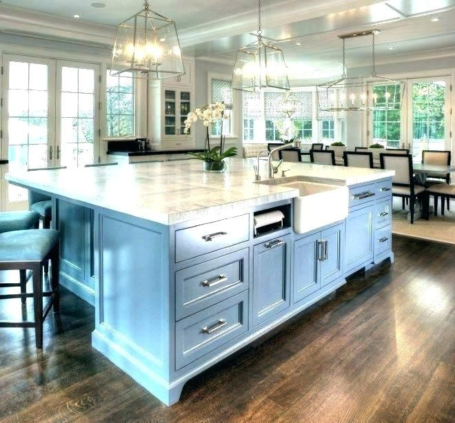 Modern Kitchen Island With Sink And Seating Home Interior Design