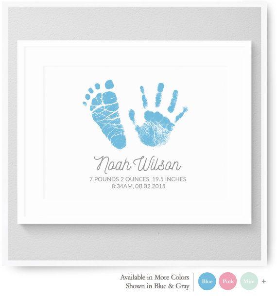 26 best handprints footprints baby sonogram personalized baby handprint art baby handprint family handprints by nurseryartprints negle Gallery