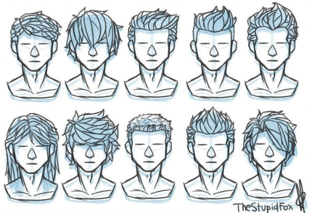random hairstyles male thestupidfox
